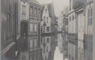 Wieringstraat onder water © Stadsarchief Leuven