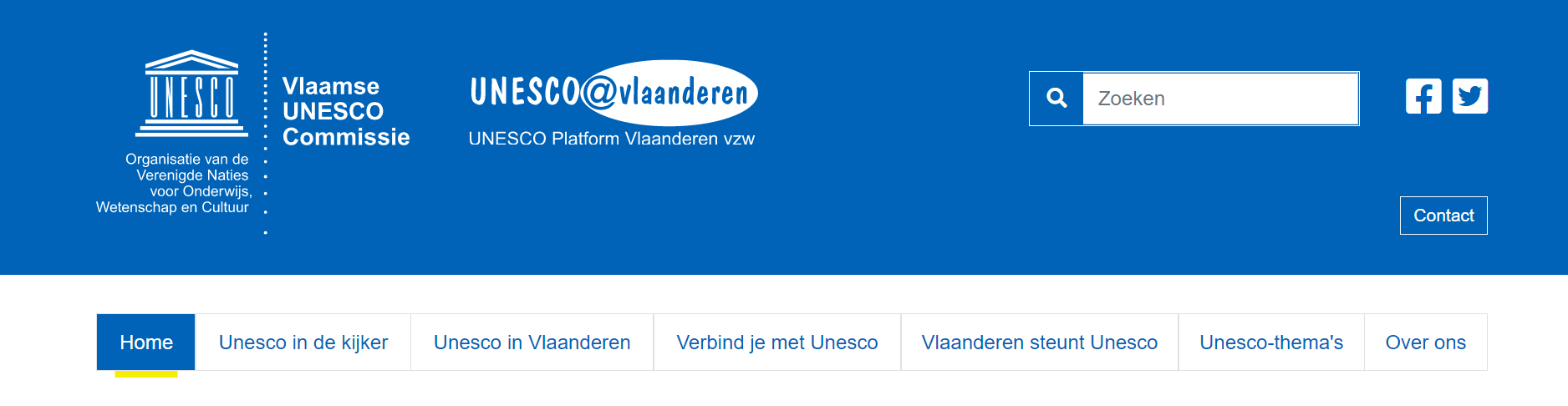 Nieuwe website Unesco